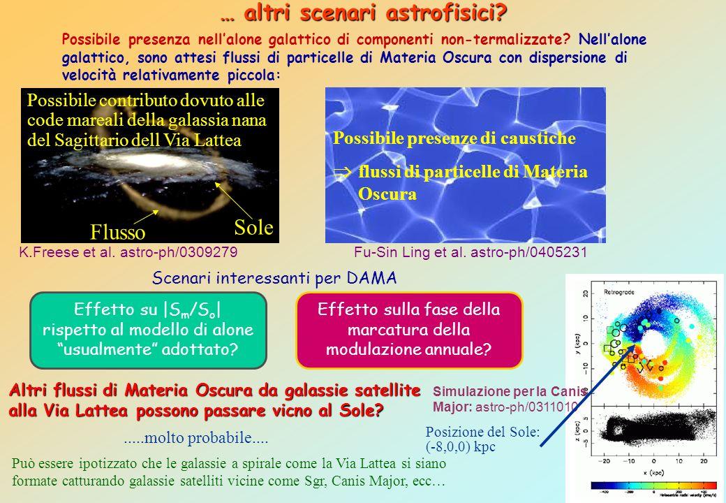 … altri scenari astrofisici