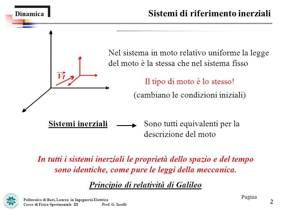Principio di relatività di Galileo