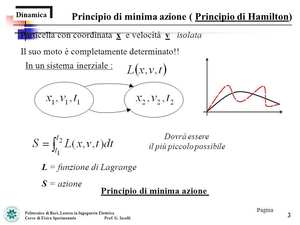 Principio di minima azione ( Principio di Hamilton)