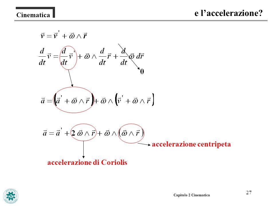 accelerazione centripeta accelerazione di Coriolis