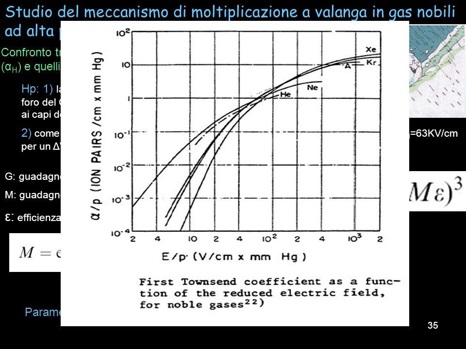 Studio del meccanismo di moltiplicazione a valanga in gas nobili ad alta pressione in un rivelatore 3-GEM