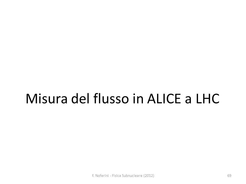 Misura del flusso in ALICE a LHC