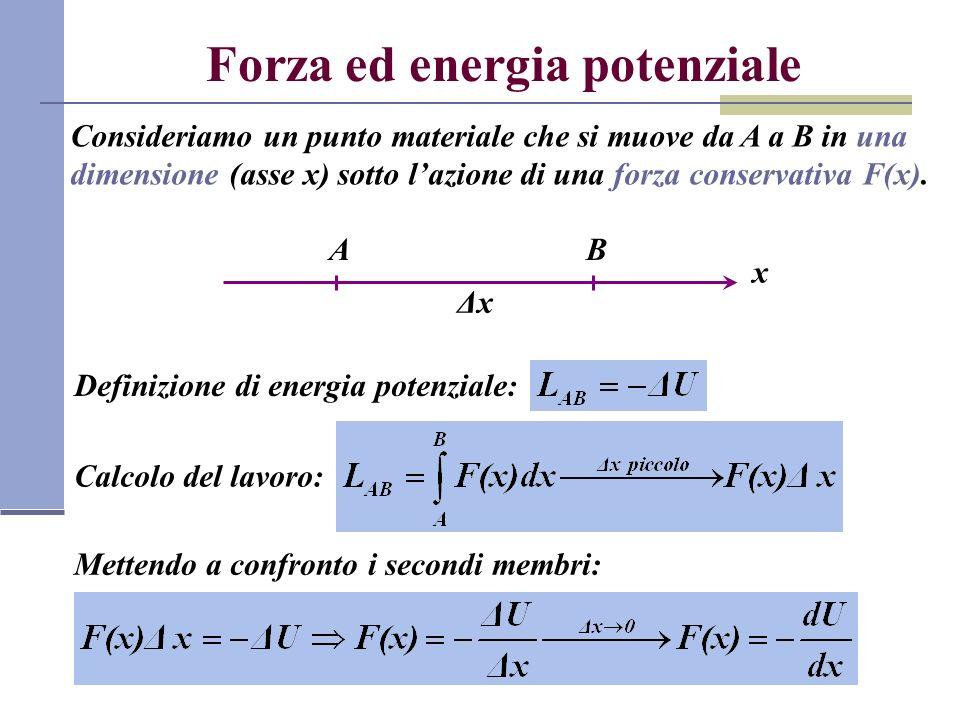 Forza ed energia potenziale
