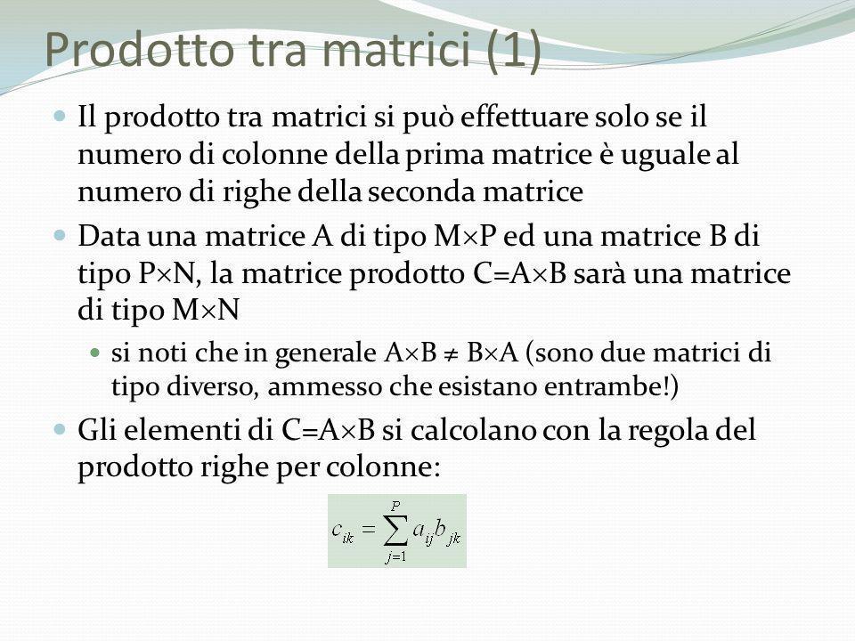 Prodotto tra matrici (1)