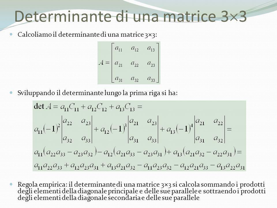 Determinante di una matrice 33