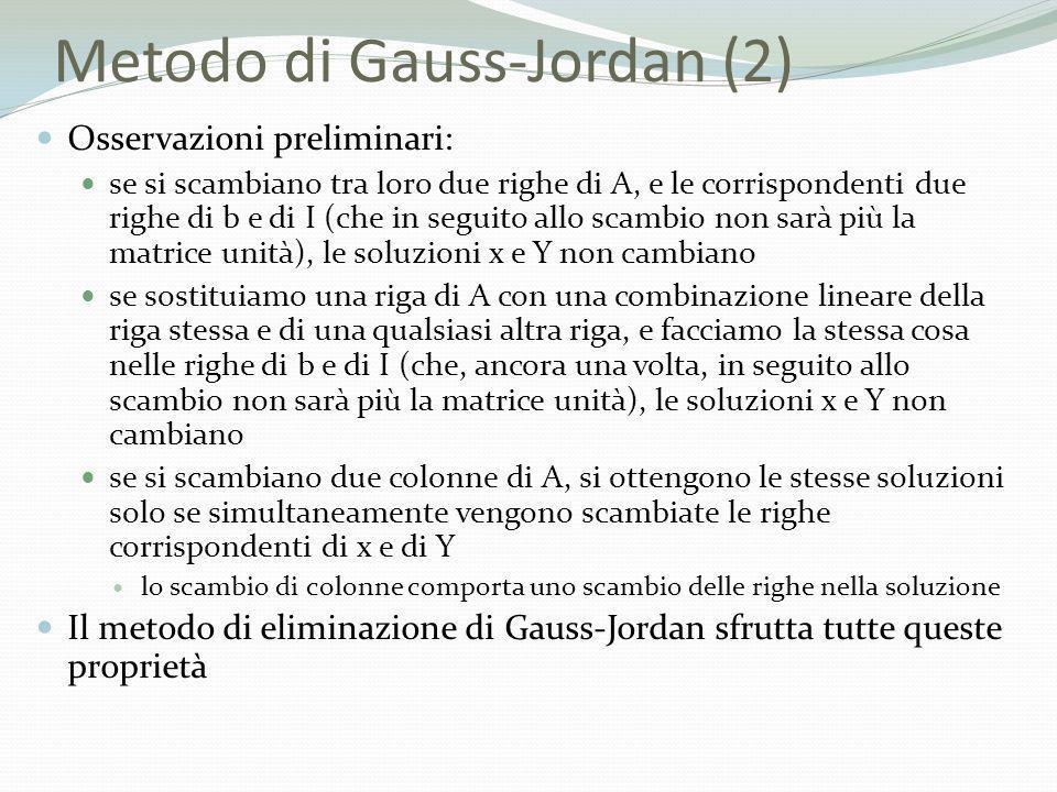 Metodo di Gauss-Jordan (2)