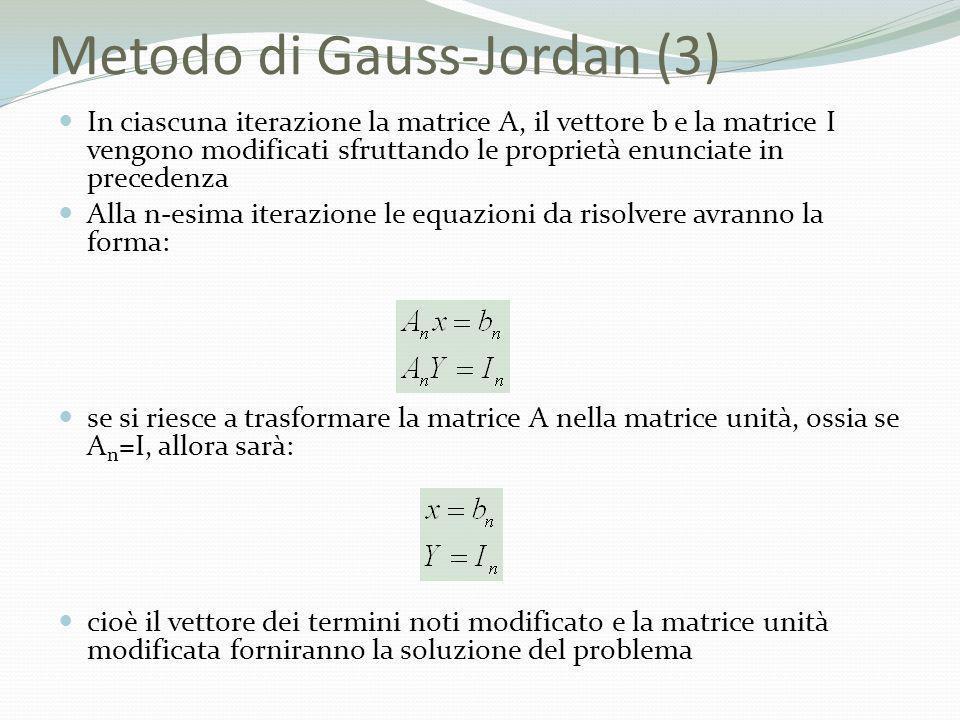 Metodo di Gauss-Jordan (3)