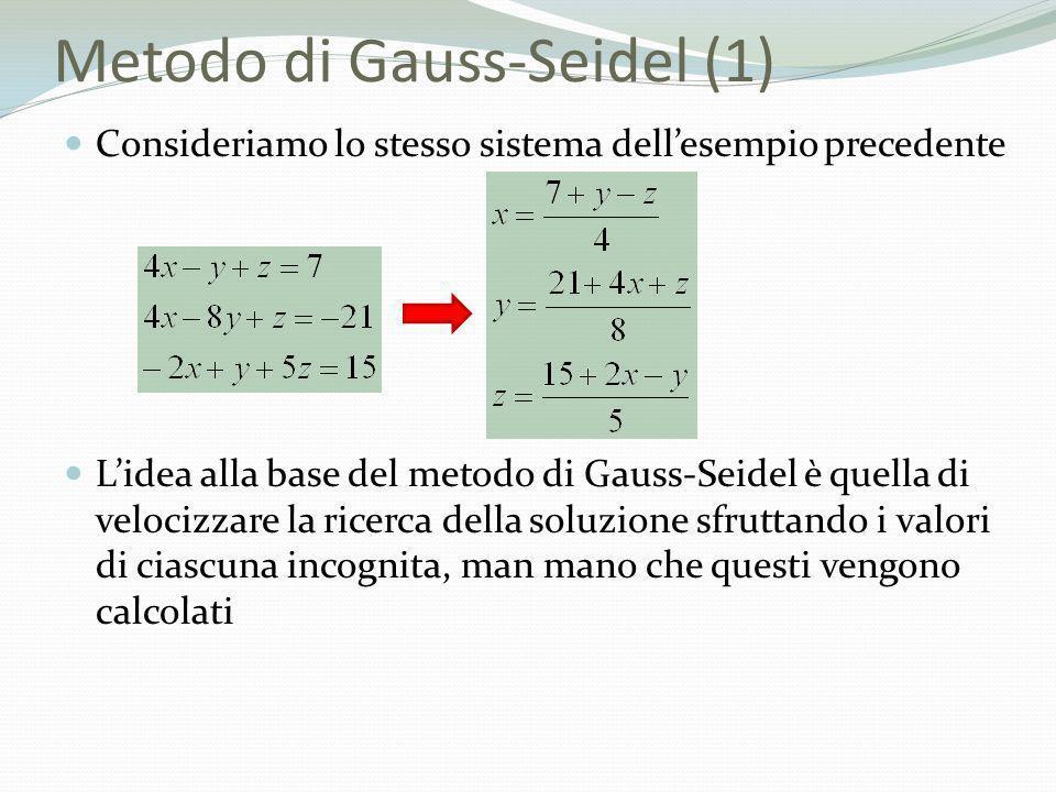 Metodo di Gauss-Seidel (1)