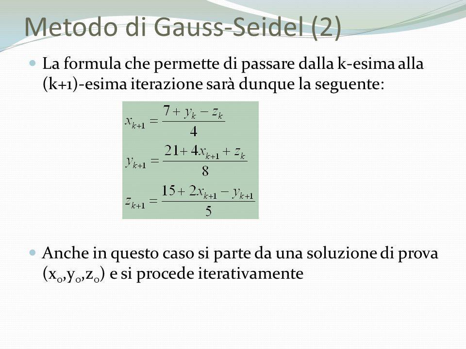 Metodo di Gauss-Seidel (2)