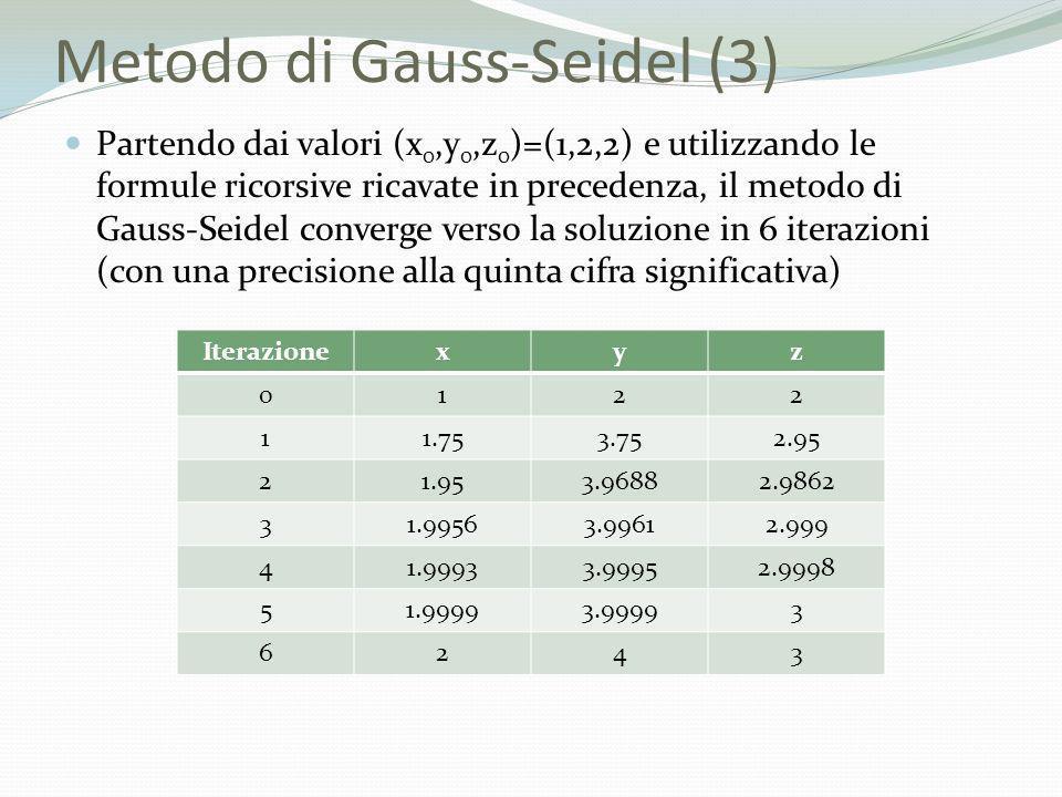 Metodo di Gauss-Seidel (3)