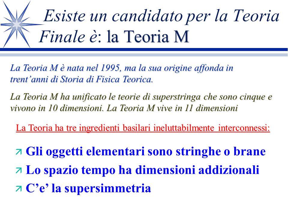 Esiste un candidato per la Teoria Finale è: la Teoria M