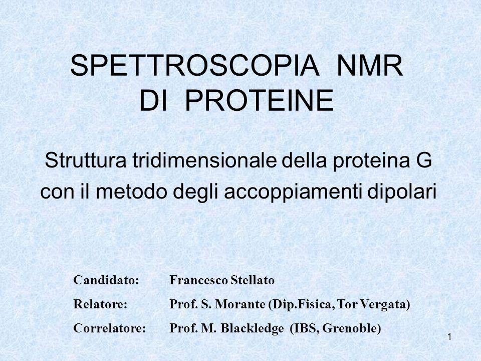 SPETTROSCOPIA NMR DI PROTEINE