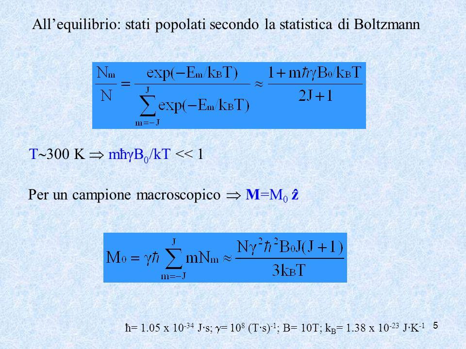 All'equilibrio: stati popolati secondo la statistica di Boltzmann