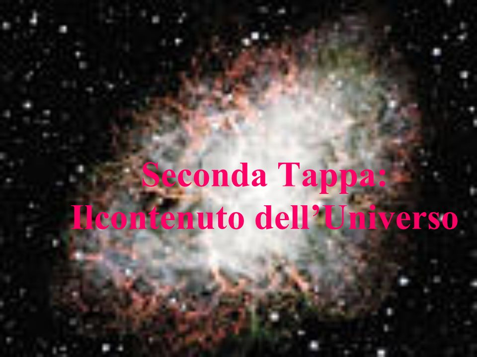 Seconda Tappa: Ilcontenuto dell'Universo