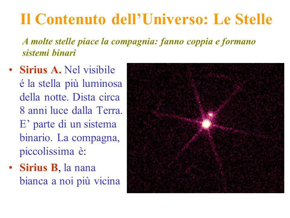 Il Contenuto dell'Universo: Le Stelle