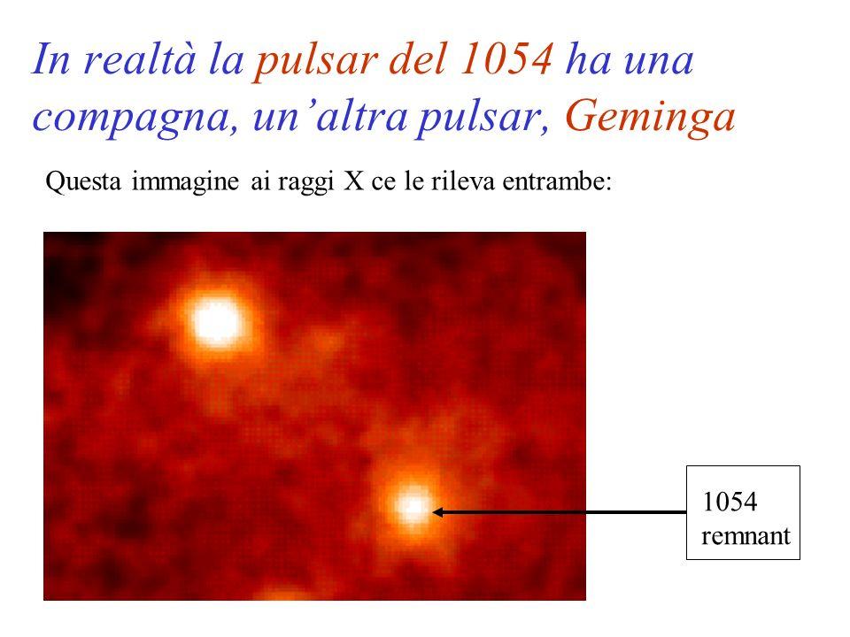 In realtà la pulsar del 1054 ha una compagna, un'altra pulsar, Geminga