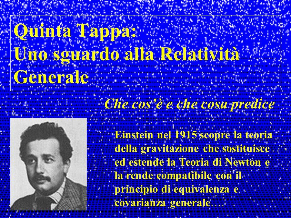 Quinta Tappa: Uno sguardo alla Relatività Generale