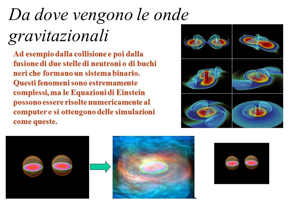 Da dove vengono le onde gravitazionali