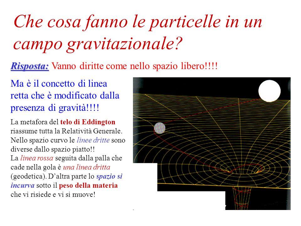 Che cosa fanno le particelle in un campo gravitazionale