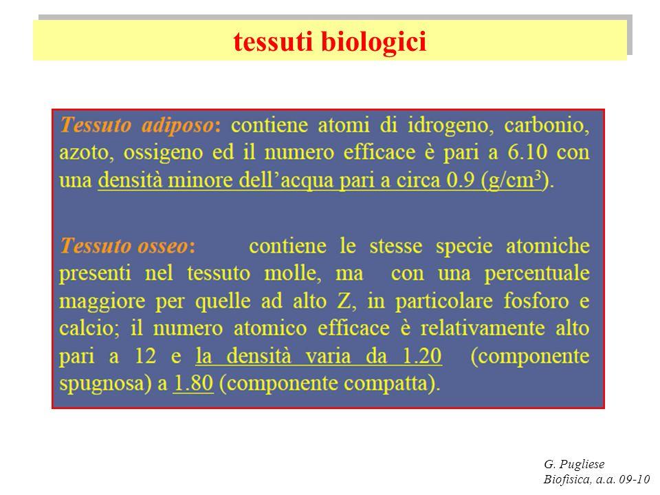 tessuti biologici G. Pugliese Biofisica, a.a. 09-10