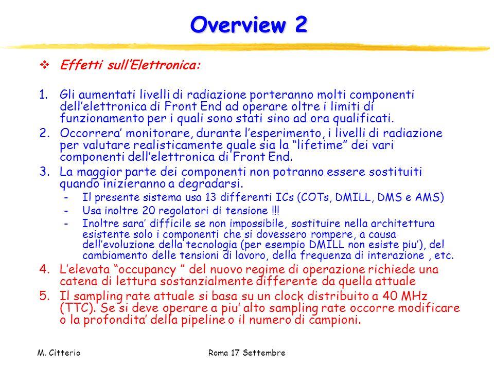 Overview 2 Effetti sull'Elettronica: