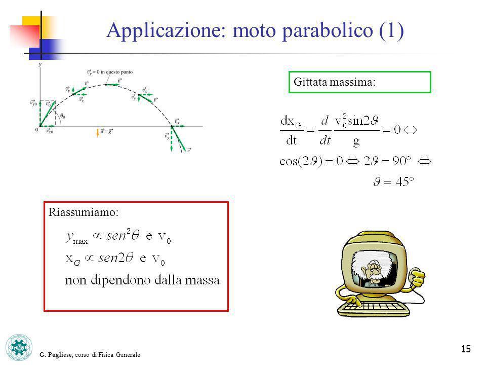Applicazione: moto parabolico (1)