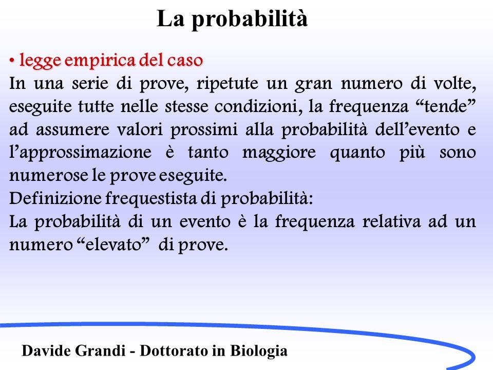 La probabilità legge empirica del caso