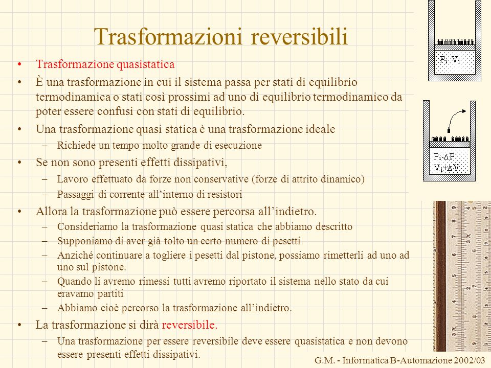 Trasformazioni reversibili