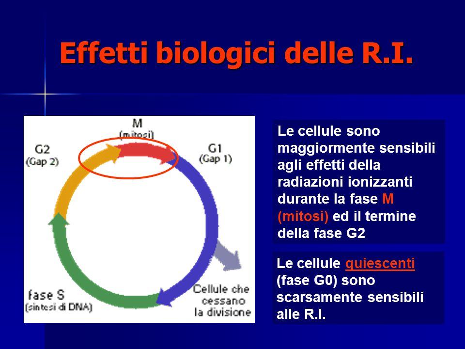 Effetti biologici delle R.I.