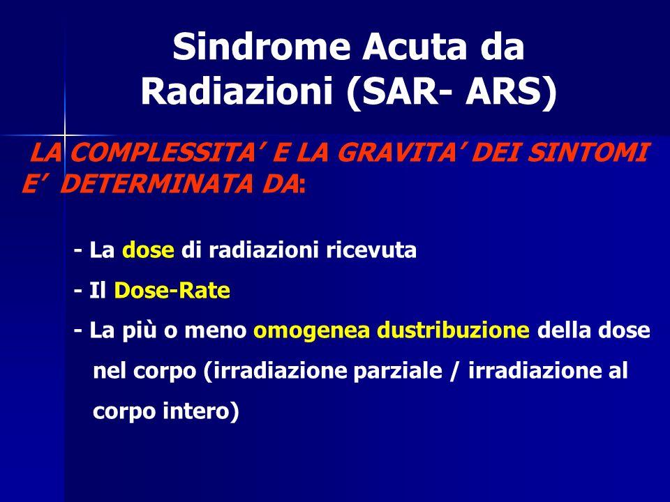 Sindrome Acuta da Radiazioni (SAR- ARS)