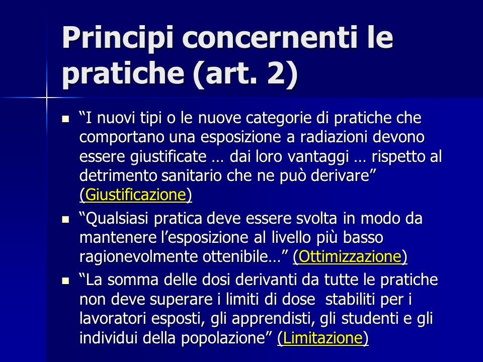 Principi concernenti le pratiche (art. 2)