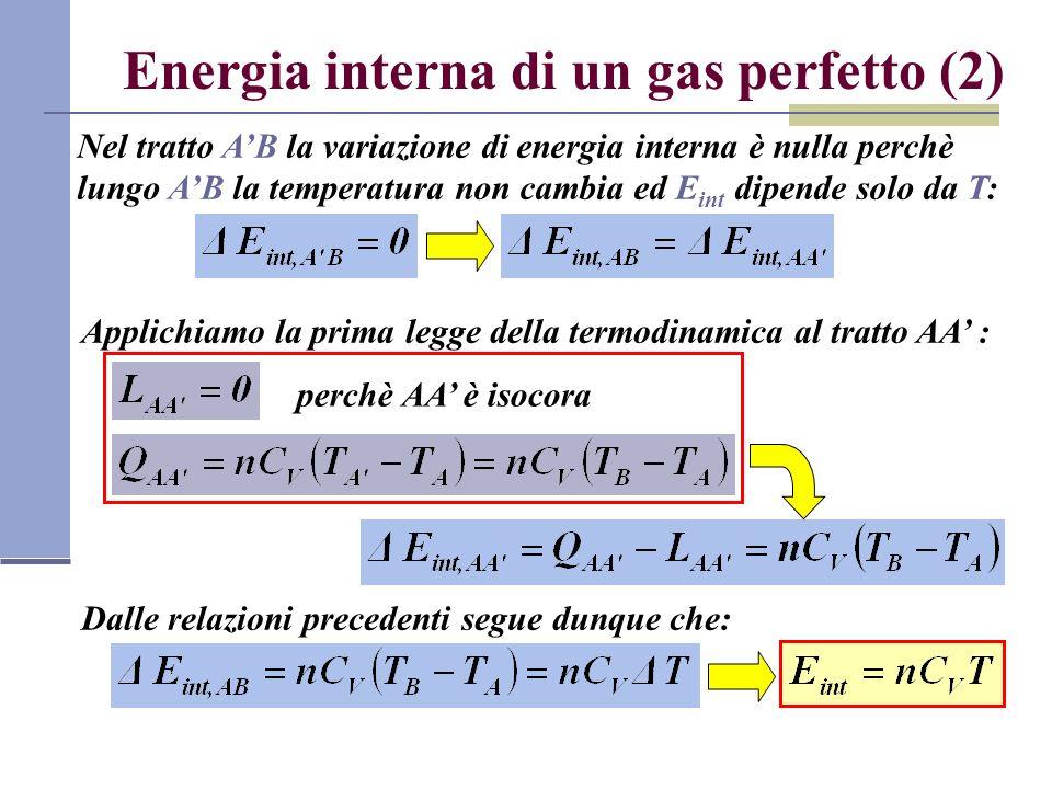 Energia interna di un gas perfetto (2)