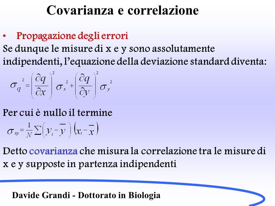 Covarianza e correlazione