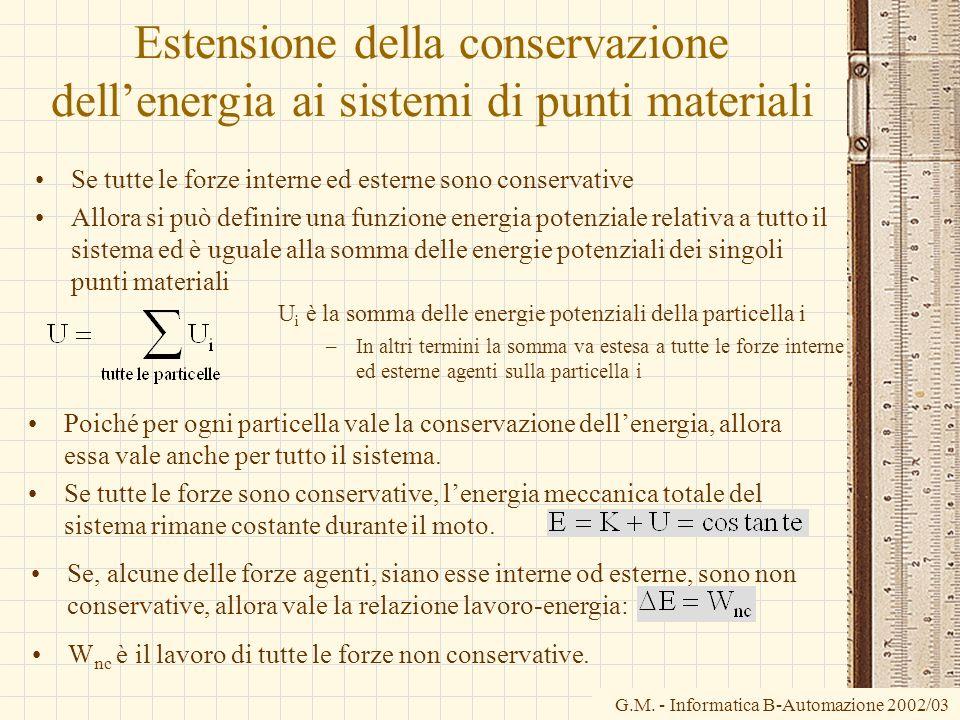 Estensione della conservazione dell'energia ai sistemi di punti materiali