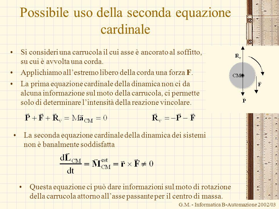 Possibile uso della seconda equazione cardinale