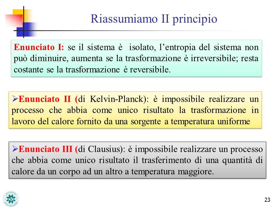 Riassumiamo II principio