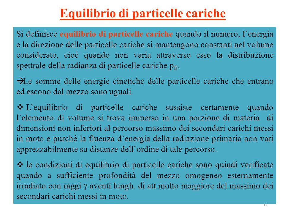 Equilibrio di particelle cariche