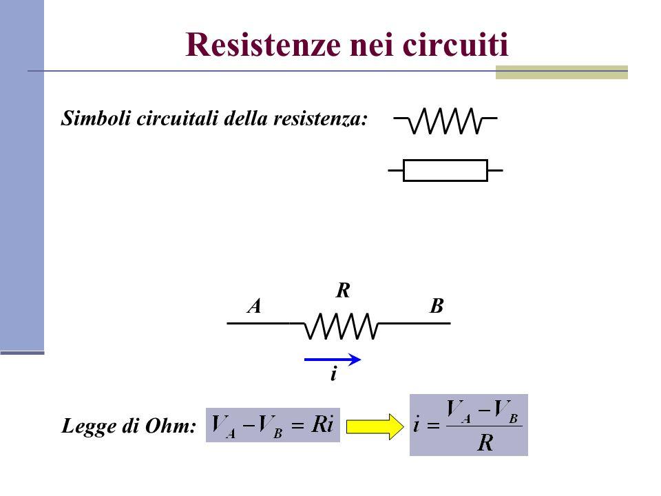 Resistenze nei circuiti