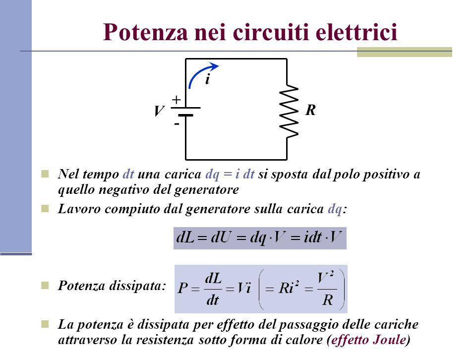 Potenza nei circuiti elettrici
