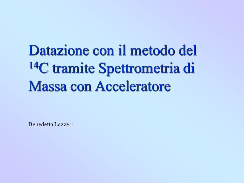 Datazione con il metodo del 14C tramite Spettrometria di Massa con Acceleratore
