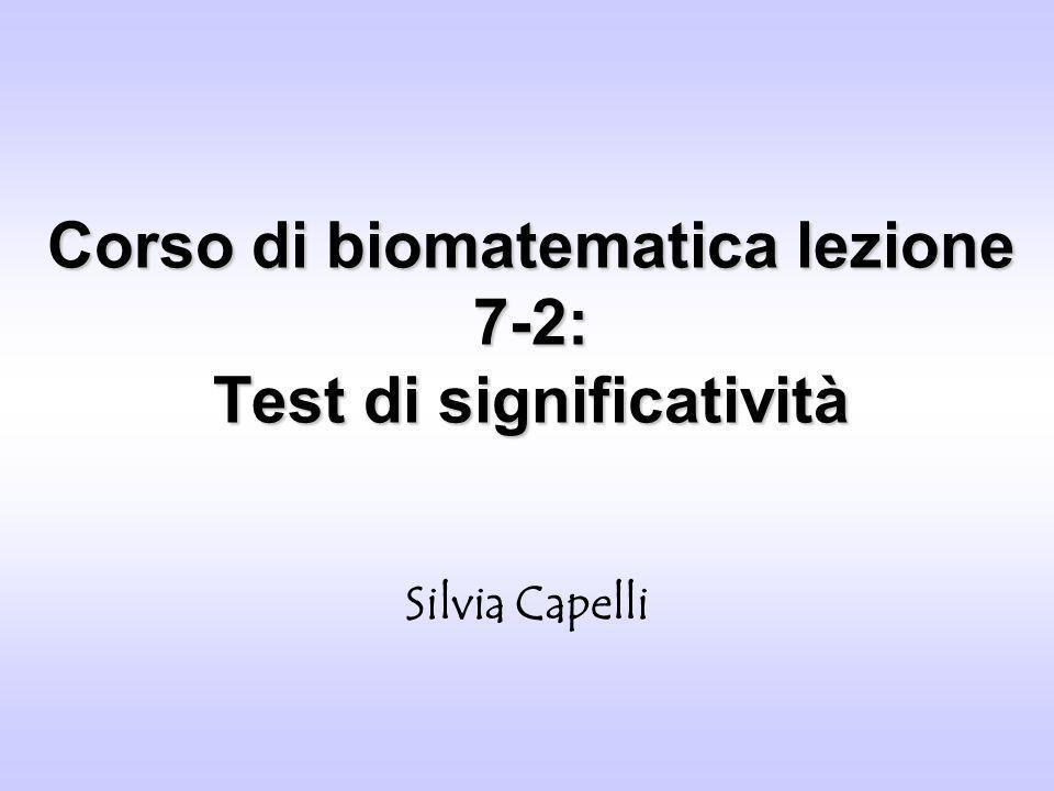 Corso di biomatematica lezione 7-2: Test di significatività