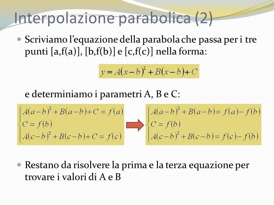Interpolazione parabolica (2)