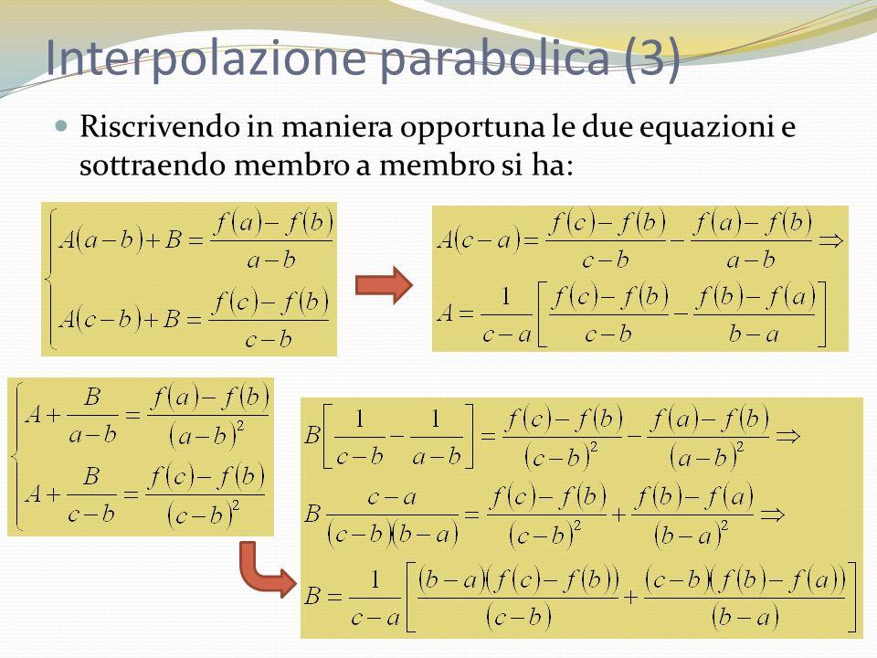 Interpolazione parabolica (3)