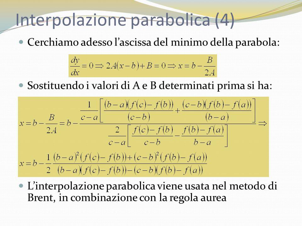 Interpolazione parabolica (4)