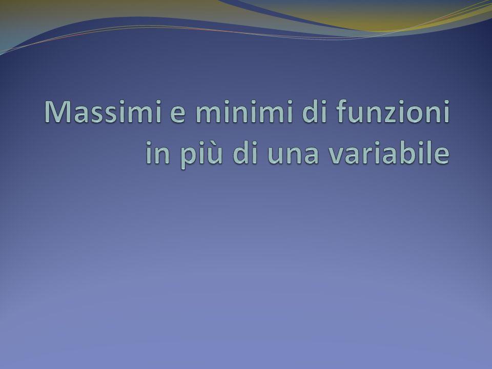 Massimi e minimi di funzioni in più di una variabile