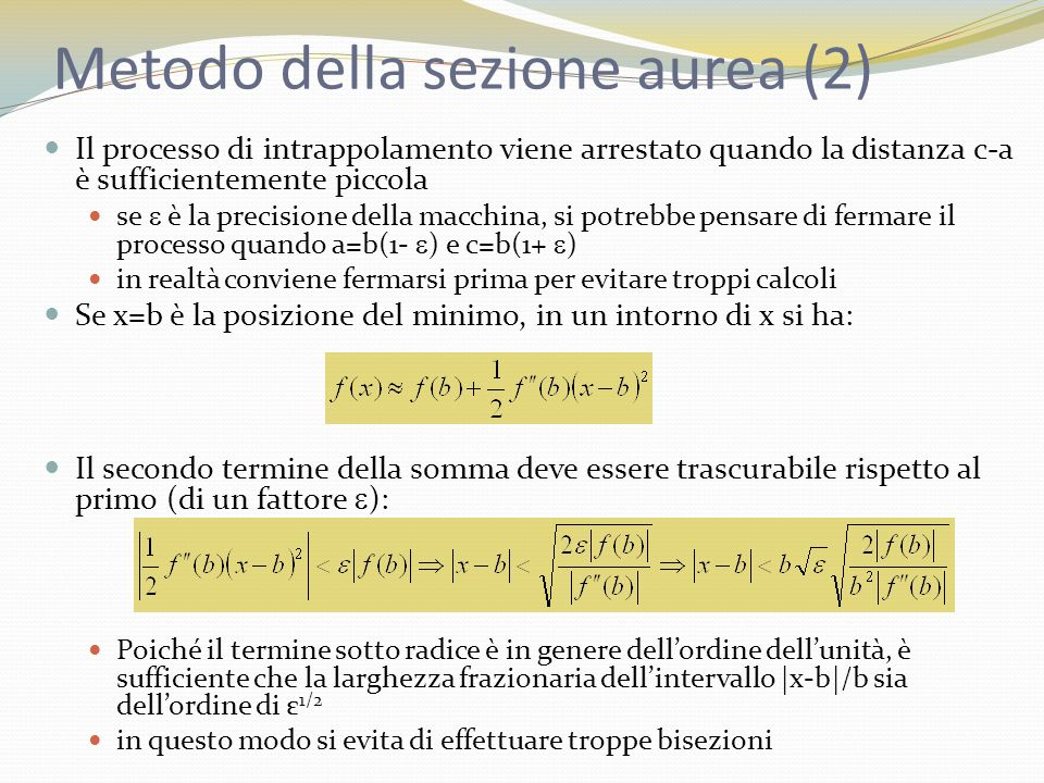 Metodo della sezione aurea (2)