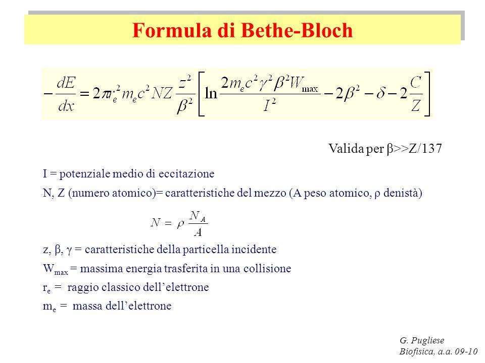 Formula di Bethe-Bloch