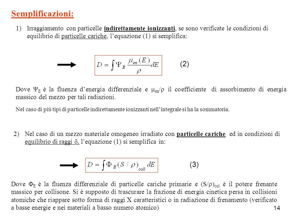 Semplificazioni: (2) (3)