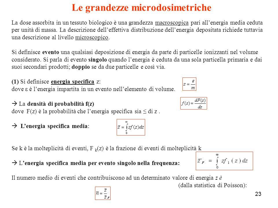 Le grandezze microdosimetriche