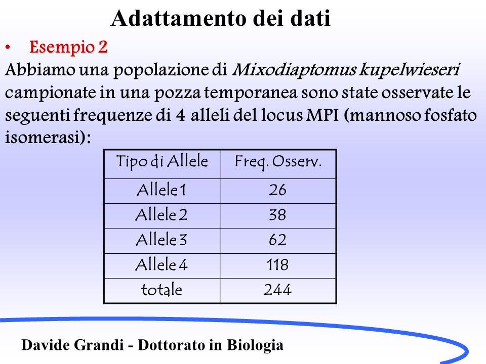 Adattamento dei dati Esempio 2